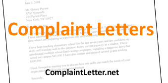 letter of complaint examples