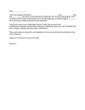 Airconditionercomplaintletterg air conditioner complaint letter letter of complaint expocarfo