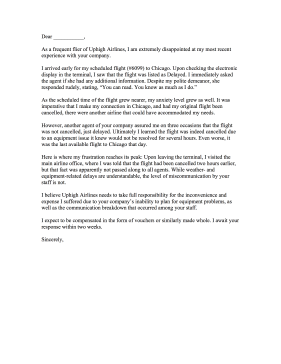 Airlinecomplaintletterg airline complaint letter letter of complaint spiritdancerdesigns Image collections