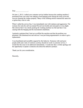 Bad Customer Service Complaint Letter Letter of Complaint