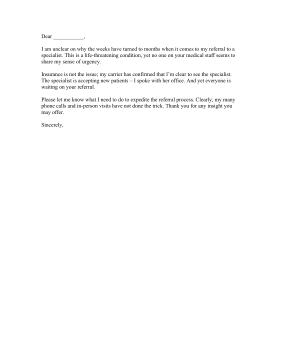 Medical Delay Complaint Letter Letter of Complaint