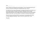 Exercise Equipment Complaint Letter